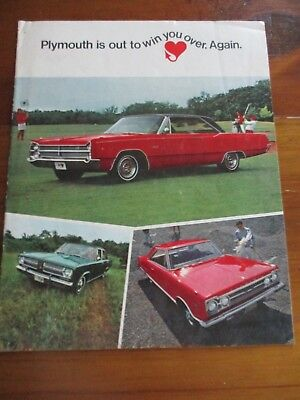 1967 Plymouth Brochure - Fury, Belvedere And Valiant - Excellent Cond.