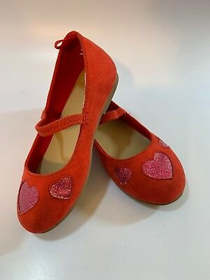 441ab808723 GYMBOREE Red Pink Hearts Ballet Flats Toddler Preschool Girl s Shoe Size 9
