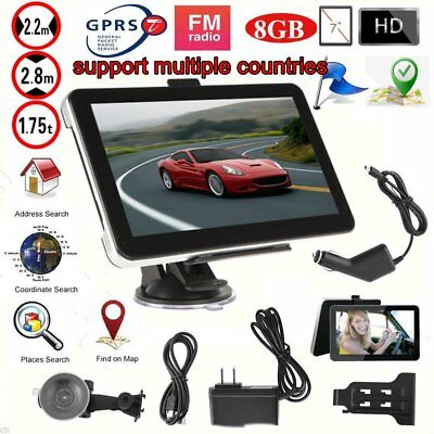 """800MB RAM + 8GB ROM GPS Navigation 7"""" Inch Large Touch Screen GPS US MAP PTFD"""