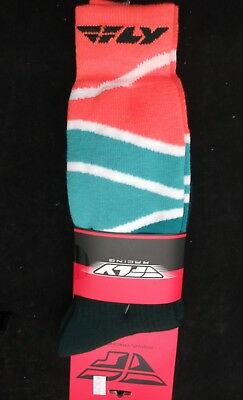 Fly Racing - Mx Atv Moto Racing Boot Socks Or/blu/blk - Sm/md Sock Size 5-9