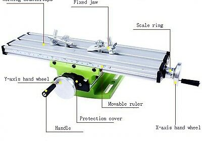 Precision Mini Multifunction Table Bench Vise Bench Drill Milling Machine Tool
