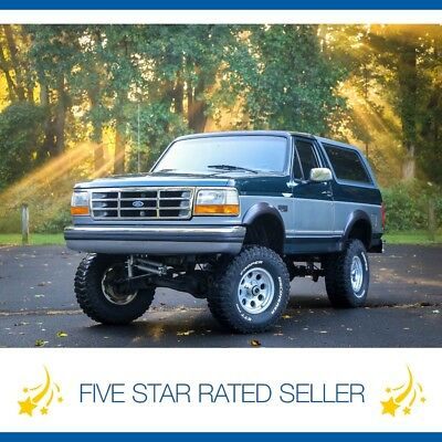 1995 Ford Bronco Lifted 5 Speed Manual 5.8L V8 XLT 4x4 Serviced CARFAX