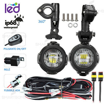 Fari Supplementari Led Faretti Moto Faro + Kit Pulsante Gs 1200 F800 F700 40W