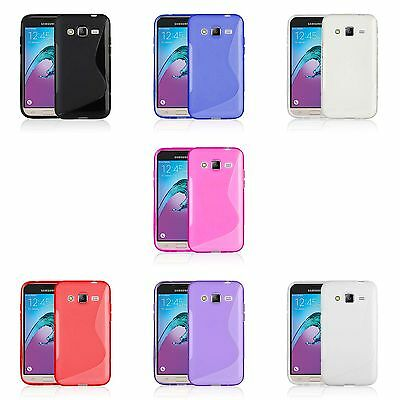 Case For Samsung Galaxy J3 2016 S-Line Silicone Gel Skin Shockproof Phone Cover