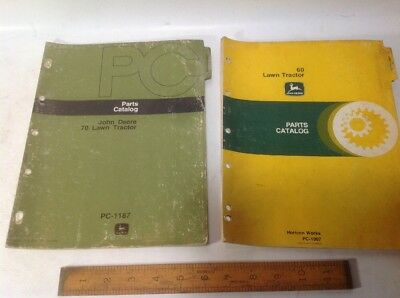 John Deere 60 & 70 Lawn Tractor Pars Catalogs, Original Issue