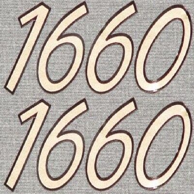 LUND WC 12 BOAT DECALS decal Pair