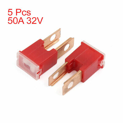 SUV Truck Red 50A Straight Terminal Slow Blow Male PAL Fuse