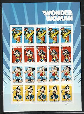 2016 #5149-5152 Wonder Woman Forever Stamps Pane of 20 MNH