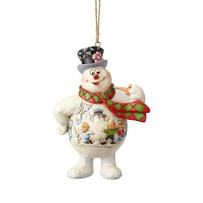 Jim Shore New 2018 FROSTY THE SNOWMAN WITH KIDS SCENE ON BELLY ORNAMENT 6001586