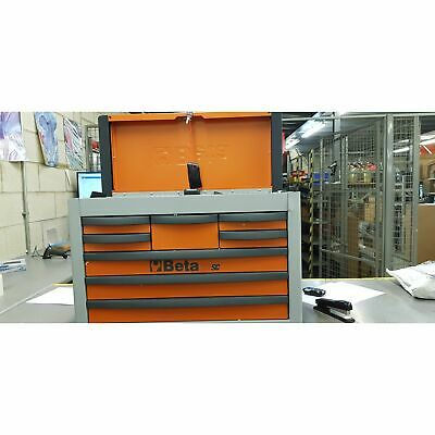 **DENTED** Beta 8 Drawer Portable Mechanic Workshop Tool Box Chest - Orange