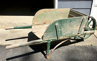 Antique Wooden Wheelbarrow - 1880's vintage