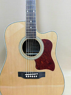 Caraya Sitka Spruce Cutaway F-650CEQ/N Acoustic Guitar with EQ +Gig Bag+ Strings