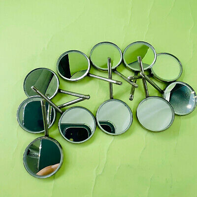 50 Pcs Dental Orthodontic Stainless Steel Mouth Mirrors # Plain Size Mirror