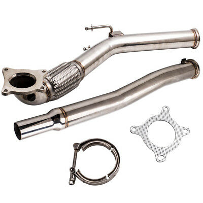 STAINLESS EXHAUST DECAT FRONT DOWNPIPE for VW GOLF 5 GOLF 6 2.0 GTI FSI Neuf