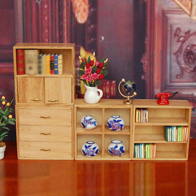 Wood Furniture Miniature Cabinet For 1:12 Dollhouse Living Room Accessory New