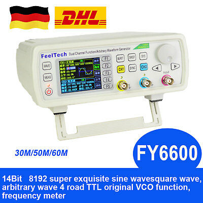 Dual Channel DDS Function Arbitrary Waveform Generator Programmable  30M/50M/60M