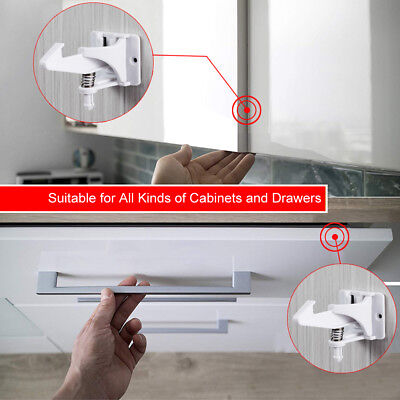 Clear or White Fridge Guard Refrigerator Door Latch Baby Safety Child Lock 12PCS