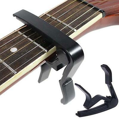 Black Guitar Capo Spring Trigger Quick Change Release Electric Acoustic Clamp WT