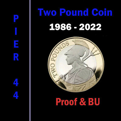 1986-2020 UK £2 Two Pound Coins PROOF & BU Brilliant Uncirculated - Select Dates
