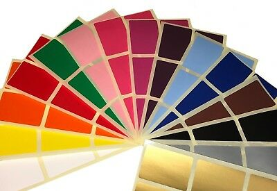 Grand 50 X 70mm Paquet Mixte de Code Couleur Rectangulaire Stickers- Étiquettes