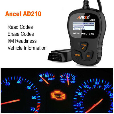 AD210 OBD2 EOBD Car Fault Code Reader Scanner Diagnostic Auto Engine Scan Tool