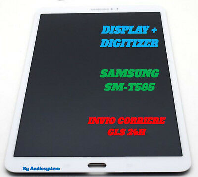 "Display Lcd+Touch Screen Samsung Galaxy Tab A 10,1"" Sm-T585 Wifi 4G Bianco Vetro"