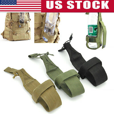 Tactical Hiking Camping Molle Water Bottle Holder Belt Carrier Pouch Nylon Bags