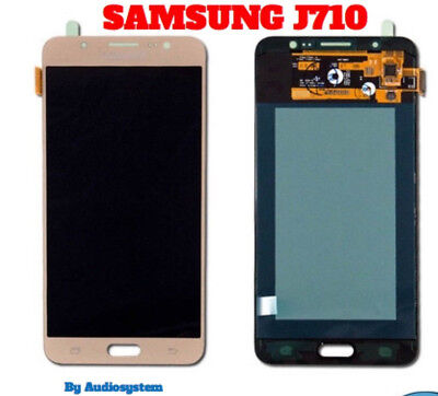 P1 DISPLAY LCD+TOUCH SCREEN per SAMSUNG GALAXY J7 2016 SM-J710F ORO GOLD NUOVO