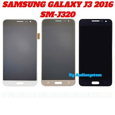 DISPLAY LCD +TOUCH SCREEN per SAMSUNG GALAXY J3 2016 SM-J320FN J320 J320F VETRO