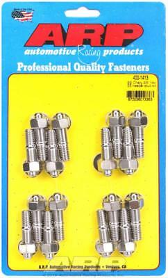 "ARP Header Studs Hex Nuts Stainless Polished 3/8""-16 Chevy Big Block Set of 16"