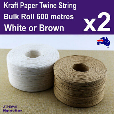 Paper Twine String Roll CRAFT Gift Wrap BULK | 1mm x 600 Metres | AUSSIE Seller