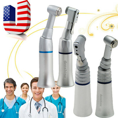 Dental Low Speed Push Button/Wrench Handpiece Contra Angle Latch Bur Dentist Use