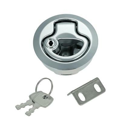 New Flush Pull Slam Latch Hatch with Lock Door for RV Marine Boat Suitable W3Z8