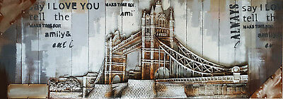 Quadro tridimensionale Moderno Design in Rilievo Tower Bridge 3D 55x155 cm