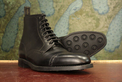 7ae667e7f3e LOAKE 1880 HYDE Black Calf Derby Boots 10½F - New Seconds RRP £240 (16516)