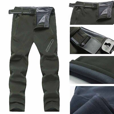 NEW Men Pants Sports Trousers Hiking Camping Soft Thermal Fashion Plus Size Ski