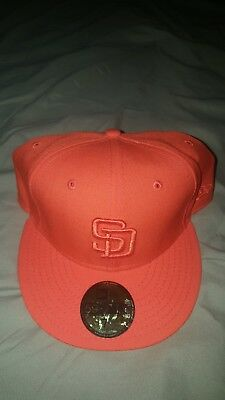 39c502092b0 San Diego Padres New Era Ton Wool Cooperstown Collection Hat Size 7 5 8