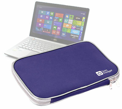 Classic Blue Neoprene 12-inch Laptop Case with Dual Zip for Samsung Series 7 Ult