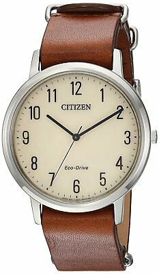 Citizen Eco-Drive Leather Mens Watch BJ6500-21A