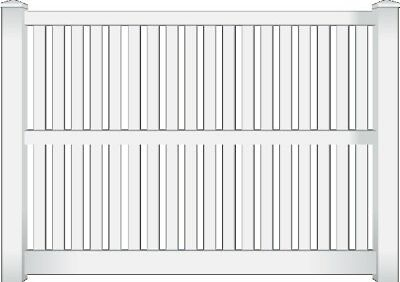 PVC Wren Picket Fence Panel White 2.34m 100% Australian Made by Think Fencing
