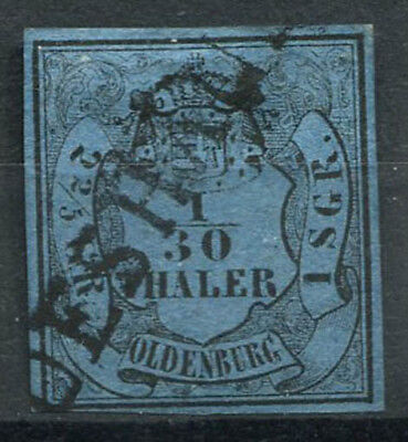 Oldenburg 1852 Mi. 2 II Gestempelt 100% 1/30 Th/2/5 2 G, Wappen