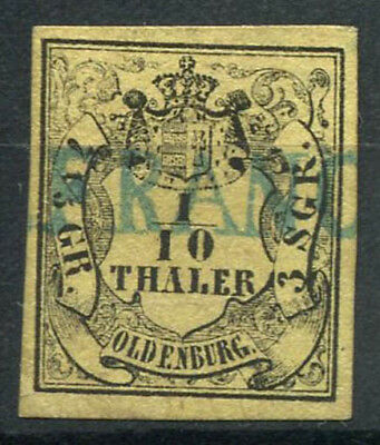 Oldenburg 1852 Mi. 4 Gestempelt 100% Th 1/10/7 1/5 Gr, Wappen