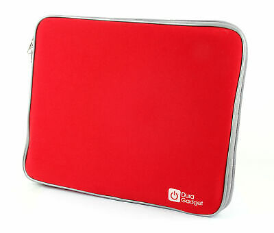 "Water Resistant Red Case For Compaq CQ57-460SA 16"" Laptop In Soft Neoprene"