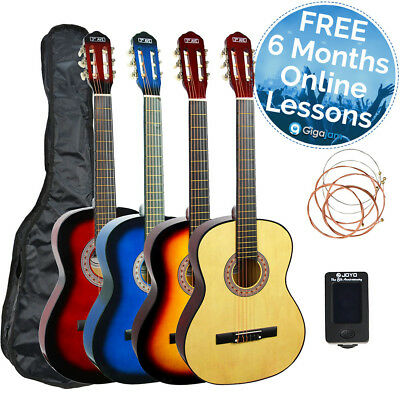 3rd Avenue Beginner Full Size Classical Guitar Starter Pack with Free Bag