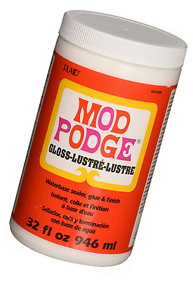 Mod Podge Gloss Waterbase Sealer, Glue and Finish - 32 oz -BEST VALUE QUICK POST