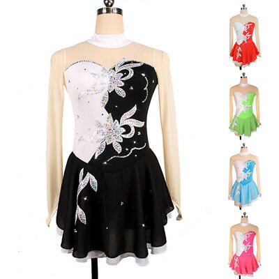 Figure Skating Dress Costume Ice Skating Gymnastics Adult Girl Fashion HGUK
