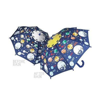 Floss & Rock Colour Changing Umbrella Universe Space Boys Gift Brolly Moon Star
