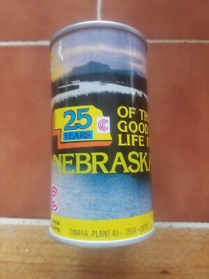 Continental can company Nebraska 25th Anniversary beer can