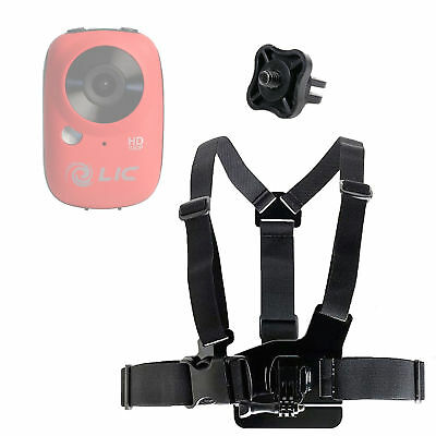 DURAGADGET Adjustable Chest Harness Mount with Quick Release Buckle Compatible with Braun SixZero