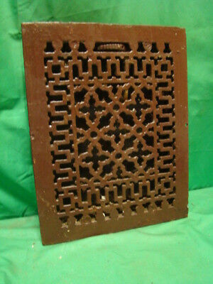 Antique Late 1800's Cast Iron Heating Grate Unique Ornate Design 14 X 11 Hfv